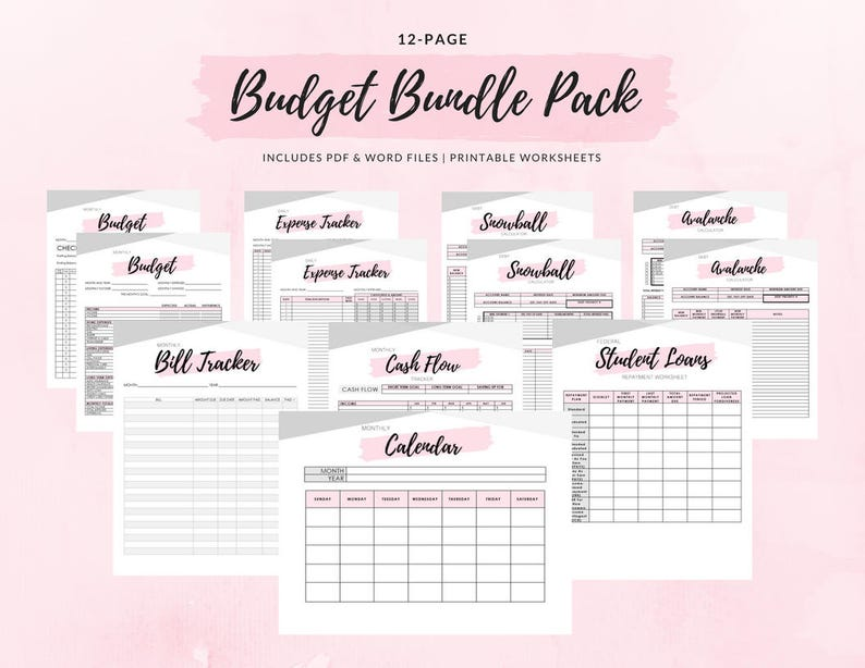 picture about Printable Budget Binder identify Funds Binder Offer Pack - 12 Printable Internet pages! As well as Reward Income Envelope Templates!