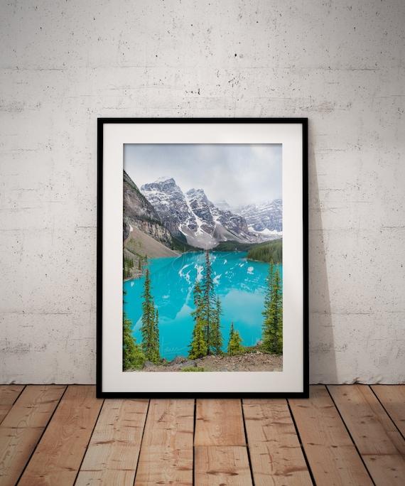 Moraine Lake Banff Canada Wall Art Etsy