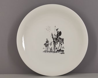 Plat Picasso edition Salins Don Quixote 50s / rare / collection / France / French ceramics / Mid-Century / XXth century