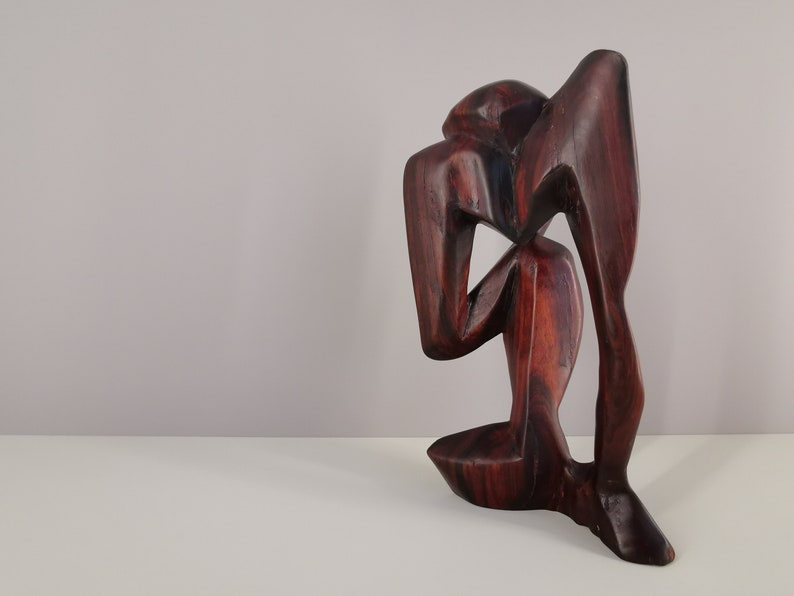 Ebony wood statue carved in mass / handmade / Africa / 80s / image 0