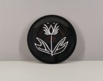 Ceramic plate attributed to Robert Picault / collection / 50s / France / French ceramics / Mid-Century / XXth century