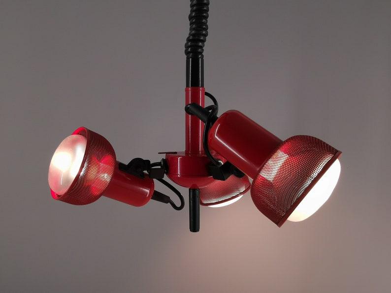 80s chandelier suspension consisting of 3 orientable spots / image 0