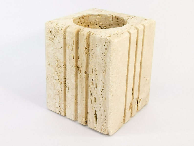 Pencil holder travertine pen holder by Cerri Nestore Italy image 0