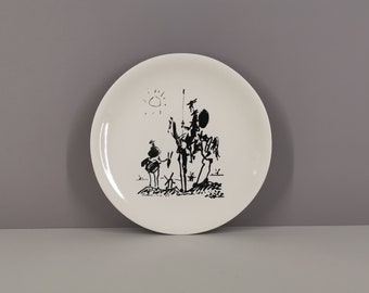 Picasso plate edition Salins Don Quixote 50s / rare / collection / France / French ceramics / Mid-Century / XXth century