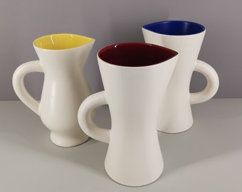 Set Ceramic pitchers St. Clément year 50 / pol chambost Georges Jouve / collection / French ceramics / Mid-Century / XXth century