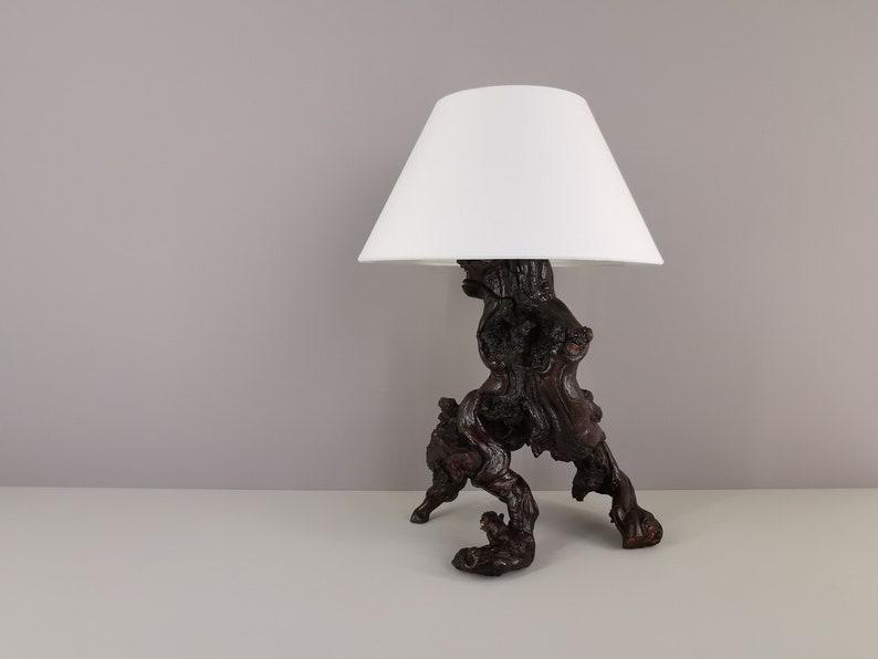 Brutalist lamp in vine vine / raw art / vintage / 50s / image 0