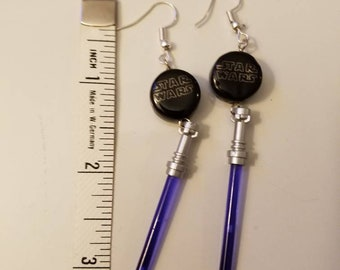 Purple Lightsaber Dangle Earrings