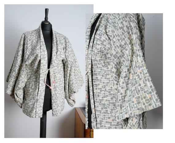 20s / 30s art deco silk kimono, made in Japan. Vin