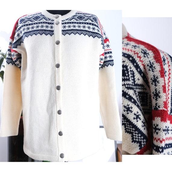 90s fair isle handmade wool sweater. Vintage wool