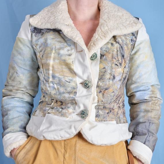 2000s sherpa jacket. Printed Sherpa women's jacket