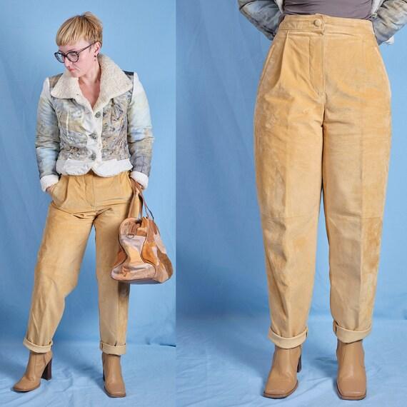 90s / 2000s Madeleine nubuck leather pants. Vintag