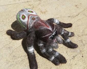 Handmade Felted jumping spider invertebrate
