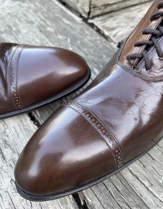 1910s True Antique Edwardian Granny Boots Brown L… - image 2