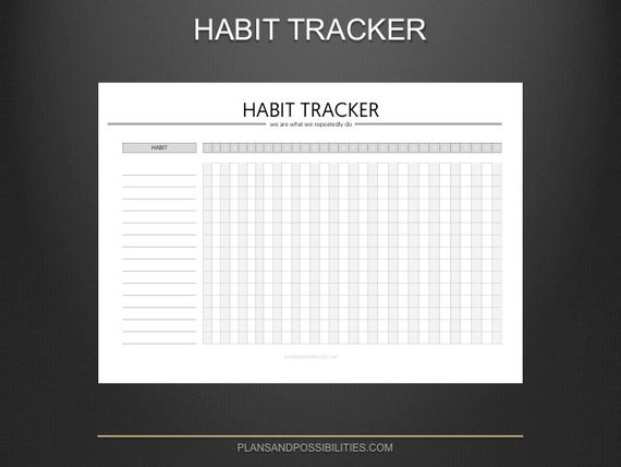 image regarding Goal Tracker Template named PRINTABLE Routine Tracker Function Tracker Routine Tracker Template Routine Historical past Function Planner Day-to-day Pattern Chart Eating plan Tracker Routine Log
