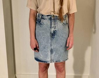 Vintage Calvin Klein Acid Wash Denim Skirt 26