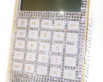 BLING Rhinestone Diamond Crystal Calculator Office Home School Gift