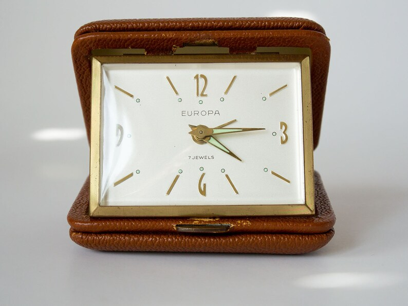 lowest price c1cf3 0677f Vintage Travel Clock,Collapsible Clock,Reisewecker,Reloj despertador  plegable,Réveil pliable,Sveglia pieghevole,折りたたみ目覚まし時計,접이식 알람 시계,可折疊鬧鐘