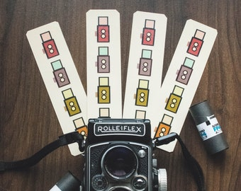 Bookmarks: Twin-Lens Reflex printed with Original Design and Laminated