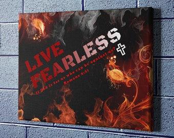Romans 8:31 Canvas Fearless