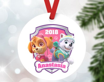 paw patrol christmas ornament everest ornament skye ornament kid christmas ornament baby first christmas personalized christmas ornament