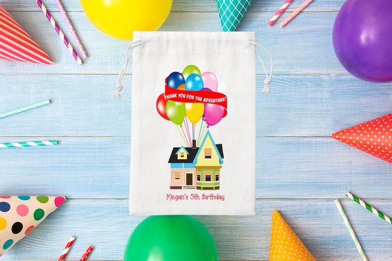 Up Adventure Favor Bags Kids Birthday Favor Bags Up Adventure Party Kids Birthday Party Bags Personalized Favor Bags Goodie Bags Set Of 6