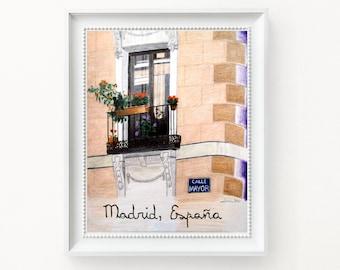 Madrid Spain Painting Art Print Calle Mayor