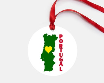 Portugal Ornament, Personalized Gift