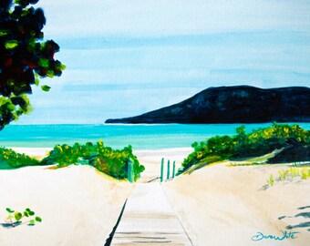 Puerto Rico Art Print Flamenco Beach Isla Culebra Caribbean Sea Painting