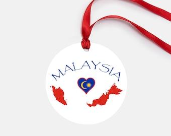 Malaysia Ornament, Personalized Gift