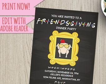 friendsgiving invitation etsy