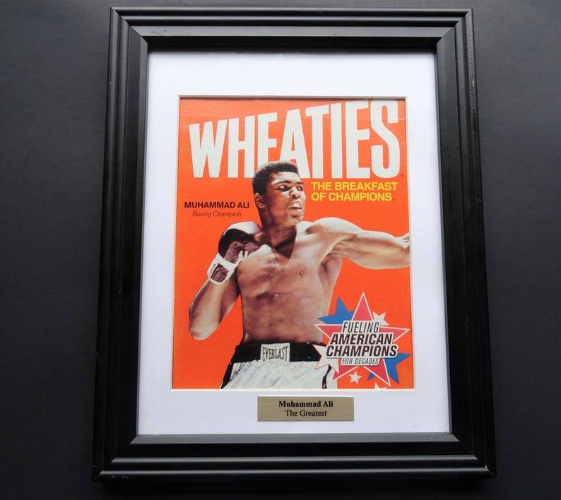 0c14cca7ad0 Muhammad Ali Wheaties Box Framed ArtMuhammad Ali Sports