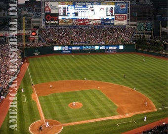 Cleveland Indians Municipal Stadium Photograph or Greeting Card Set