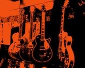 Gretsch Electric Guitar Art Print Digital Download 8 x 10