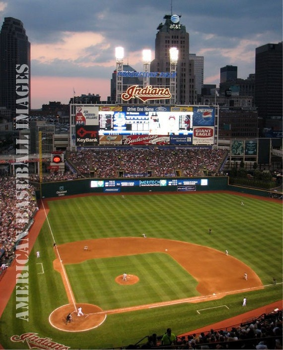 Cleveland Indians Municipal Stadium Photograph or Greeting Card Set