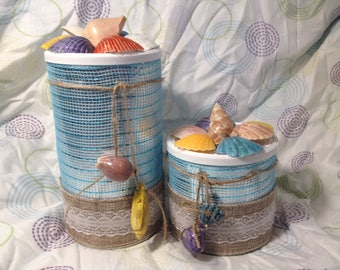 Canisters by the sea