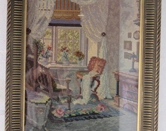 Antique Tapestry in Frame