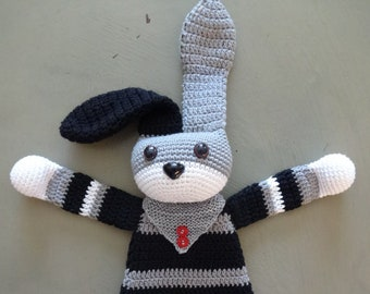 Haak katoen Ragdoll Bunny met Bandana Detail