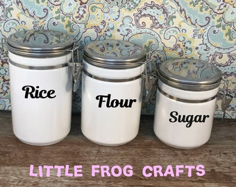 Pantry labels, canister labels, kitchen labels, jar labels, organization labels, personalized labels, Personalized Pantry, Canister Decals