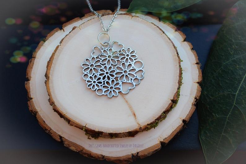 Floral Filigree Long Necklace image 0