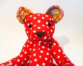 Polka Dot Teddy Bear named Penny