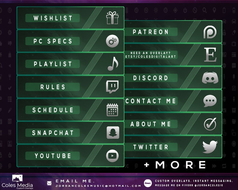 Green Cosmos - Profile Panel Pack