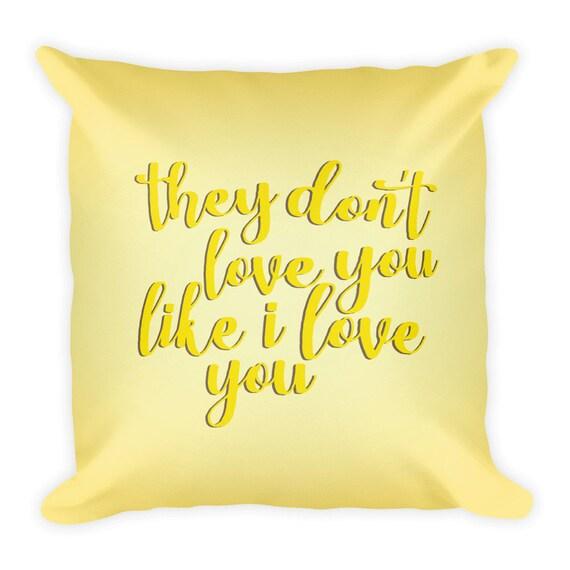 Coussin lyrique de Beyonce, Hold Up Lyrics, Love You Like I Love You, limonade coussin, coussin de 18 x 18, jaune, housse + coussin