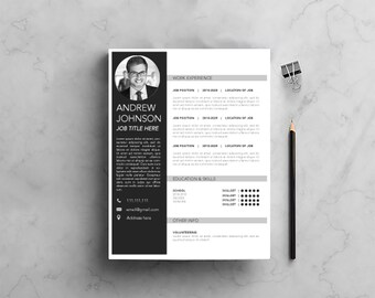 CUSTOM Resume Template Option 1