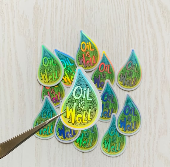 Essential Oil Labels Holographic