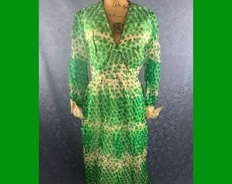 60s Gogo Maxi Dress Size M