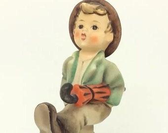 Vintage Goebel Happy Traveller Hummel Figurine 109/0 TMK3 Boy with Umbrella