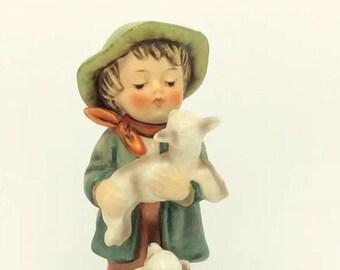 Goebel Hummel 64 SHEPHERDS BOY Lambs Figurine TMK3 c1960 72 Collectible Vintage