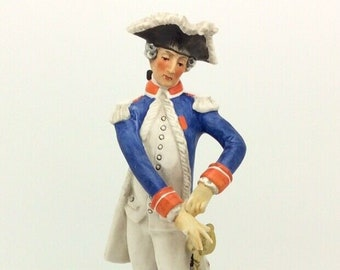 Goebel Porcelain Soldier Figurine Officier De La Garde 1786 West Germany AF