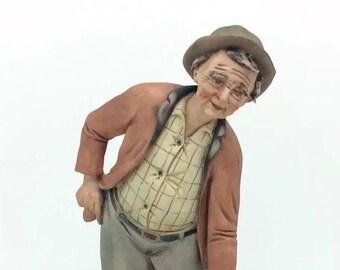 """Continental Porcelain Capodimonte Bowling Figure Porcellana 18cm 7"""" Vintage"""