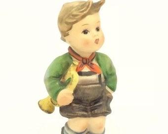 Hummel Goebel Trumpet Boy Figurine 97 TMK3 Musician Boy Collectible Porcelain